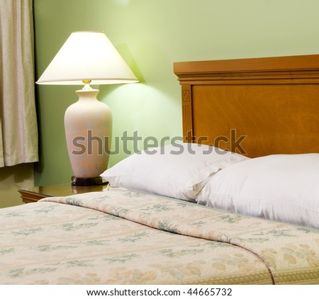 bed bedroom detail luxury hotel room managua nicaragua in central america - stock photo