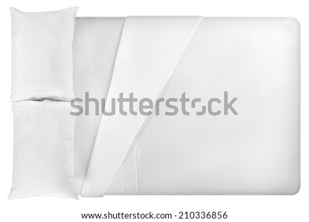 Bed. Isolated against white background. - stock photo