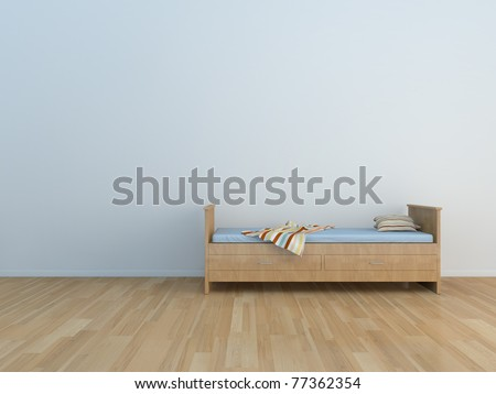 bed room kids room - stock photo