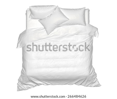 Bed top - stock photo