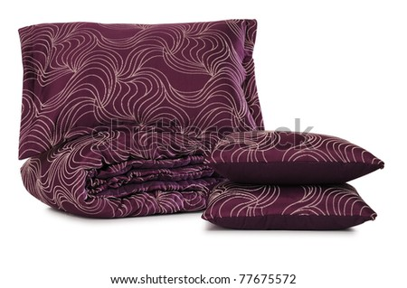 Bedding. Clipping path - stock photo