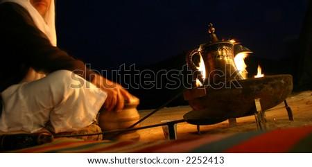 Bedouin tribesman - stock photo