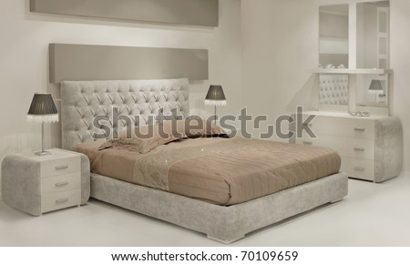 bedroom - stock photo