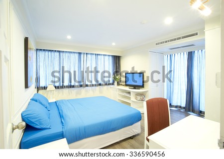 bedroom at home - stock photo