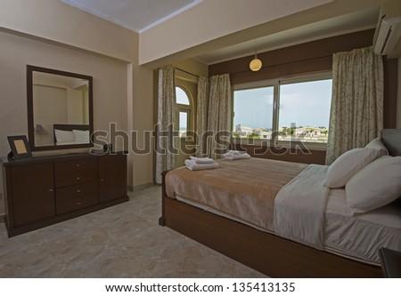 Bedroom Luxury Apartment Show Home Interior Stock Photo