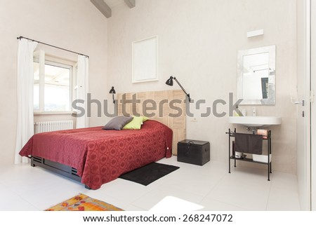 bedroom in a villa