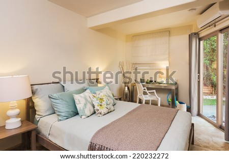 contemporary homes interior designs. Bedroom in Contemporary Home  Interior Design Beautiful Living Room New Luxury Stock Photo 360591503