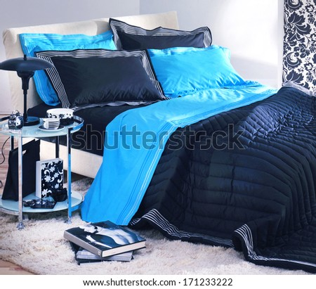 bedroom interior - stock photo