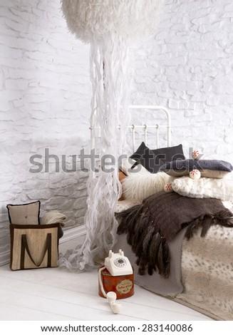bedroom interior concept  - stock photo