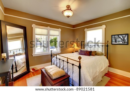 Bedroom interior house design. - stock photo