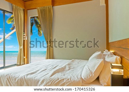 Bedroom on holiday - stock photo