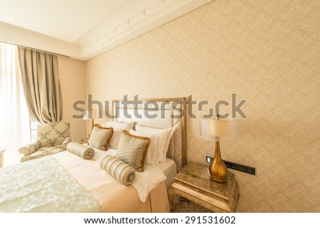 Bedroom room in modern style - stock photo