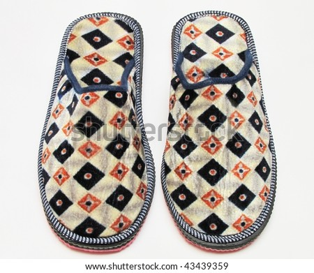 bedroom slippers - stock photo
