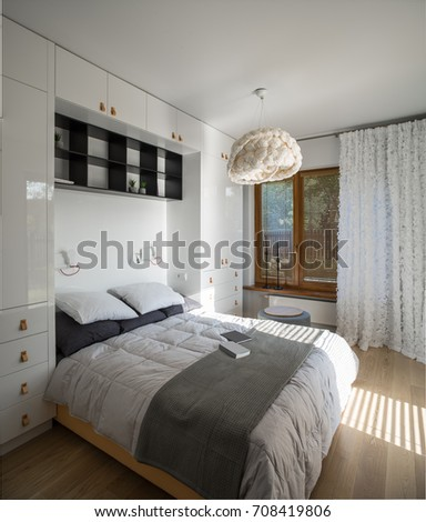 Bedroom, white, decor.