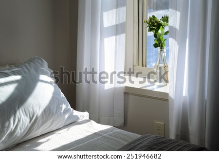 Bedroom Window - stock photo