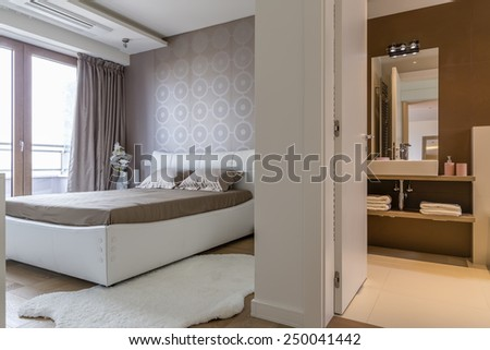 Bedroom with bathroom