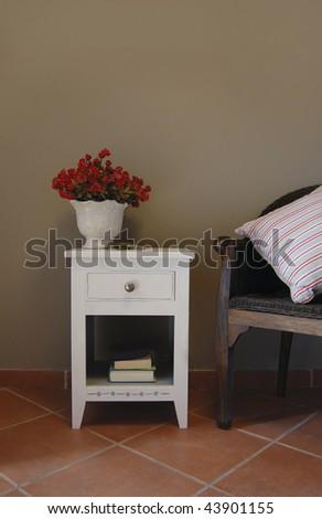 Bedside pedestal - stock photo