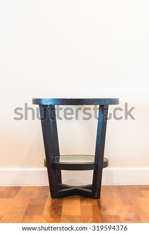 Bedside table decoration interior room - stock photo