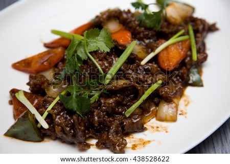 beef black pepper asian food