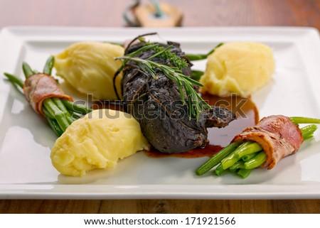 beef cheeks - stock photo