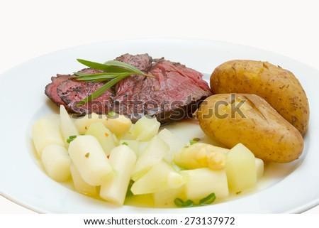 asparagus sirloin steak with roasted potatoes and asparagus asparagus ...