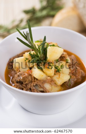 Beef goulash close up - stock photo