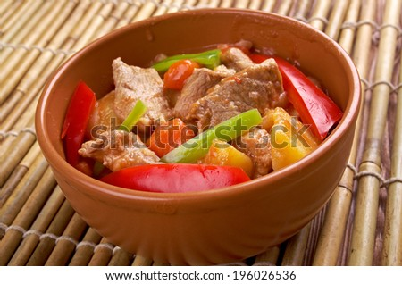 beef kaldereta - popular dish in the Philippines, especially on Luzon Island .tomato sauce carrots and potatoes