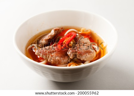 beef noodle soup - stock photo