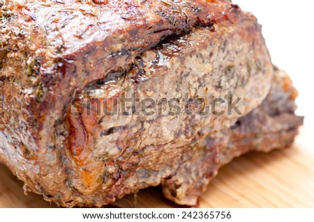 beef prime rib roast crusted with herbs