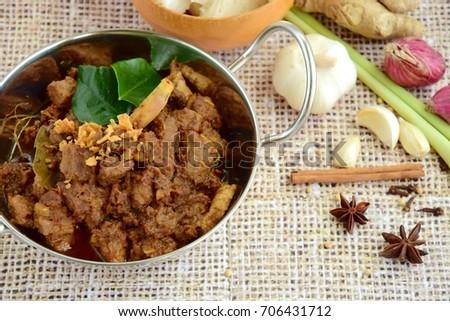 Beef Rendang The Popular Indonesian Food Spicy Beef Stew