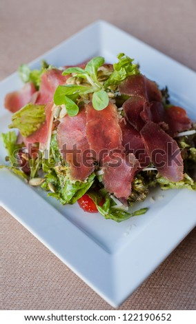 beef saald, carpaccio - stock photo