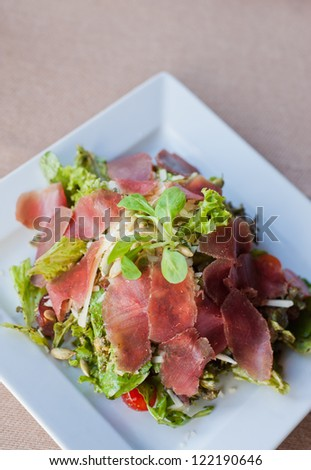 beef salad, carpaccio - stock photo
