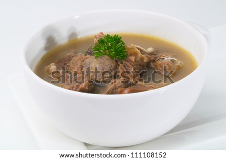 Beef Soup, bowl of Beef Soup - stock photo