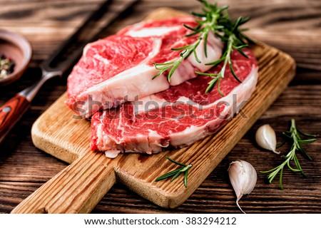 beef steak - stock photo