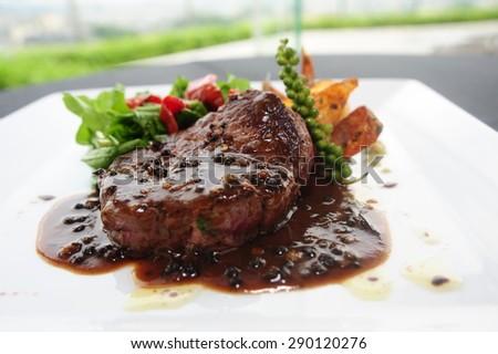 beef steak - beef steak - beef steak- beef steak - beef steak - beef steak - stock photo