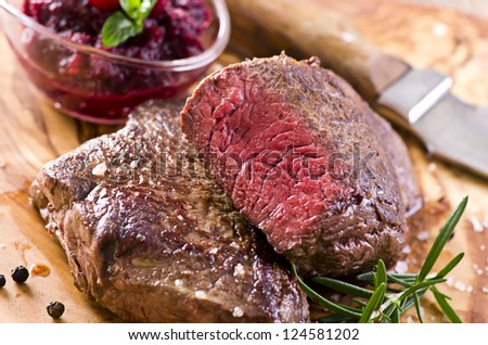 beef steaks - stock photo