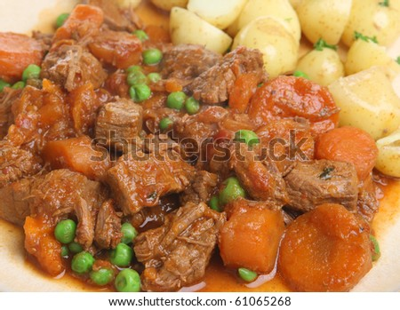 Beef stew with vegetables - stock photo