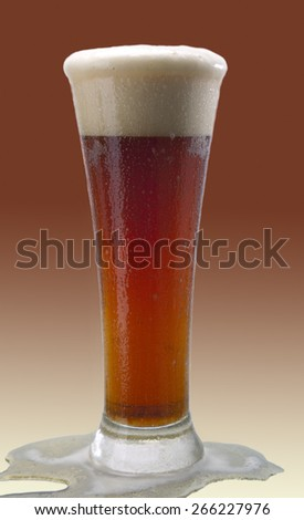Beer, alcohol - dark beer in a glass