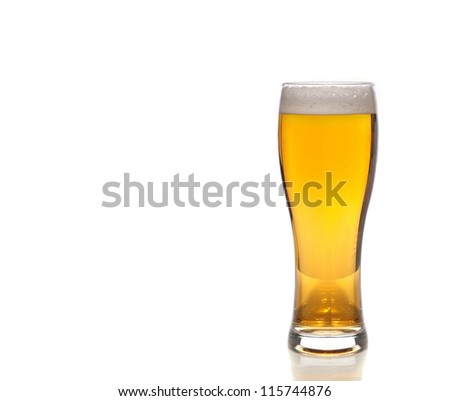 Beer background isolated on white