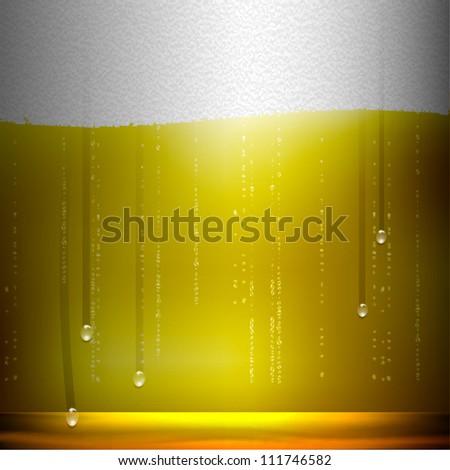 Beer background. Raster version - stock photo