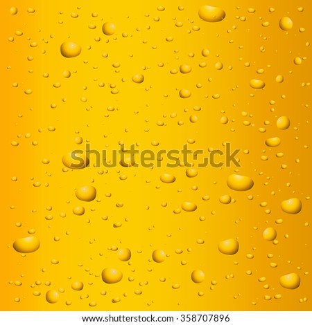 Beer background with drops. Raster version. Illustration - stock photo