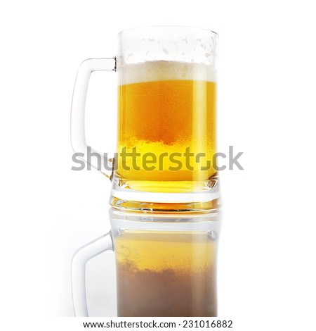 beer being pour into glass
