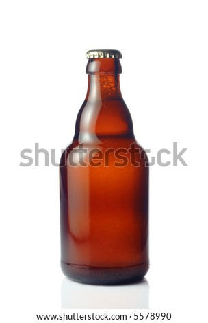 Beer bottle - stock photo