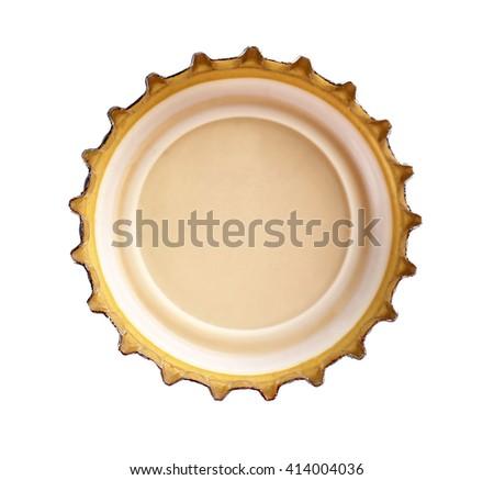 Beer bottle cap, isolated on white - stock photo