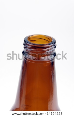 Beer bottle close-up - stock photo