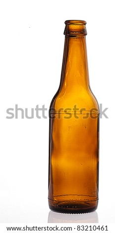 beer bottle isolated on white background - stock photo