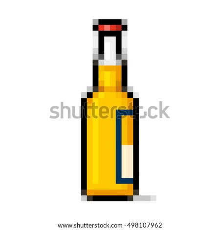 Beer bottle pixel art