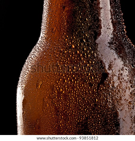 Beer bottle with Drops