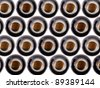 beer bottles - top view - stock photo