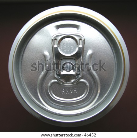 Beer can from above